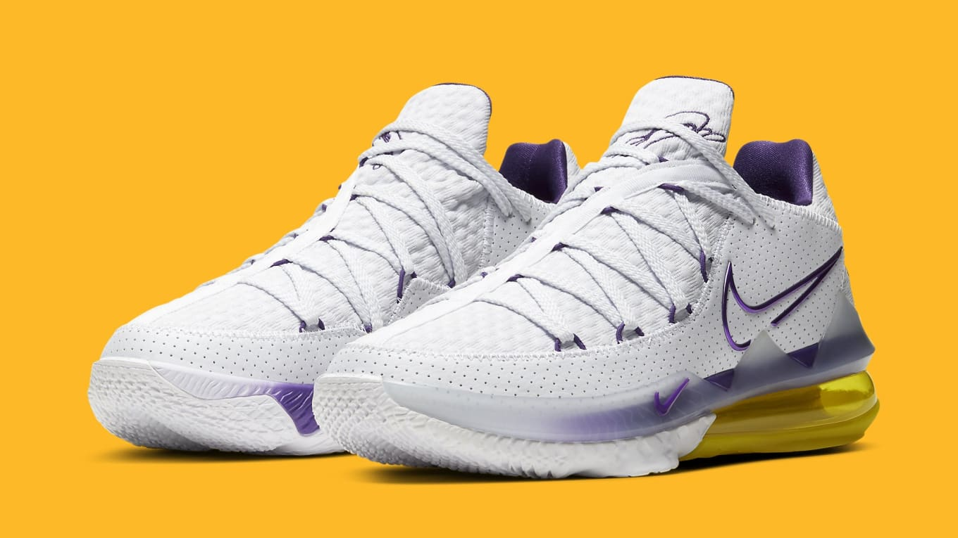 Nike LeBron 17 Low Lakers Home Release Date CD5007-102 ...