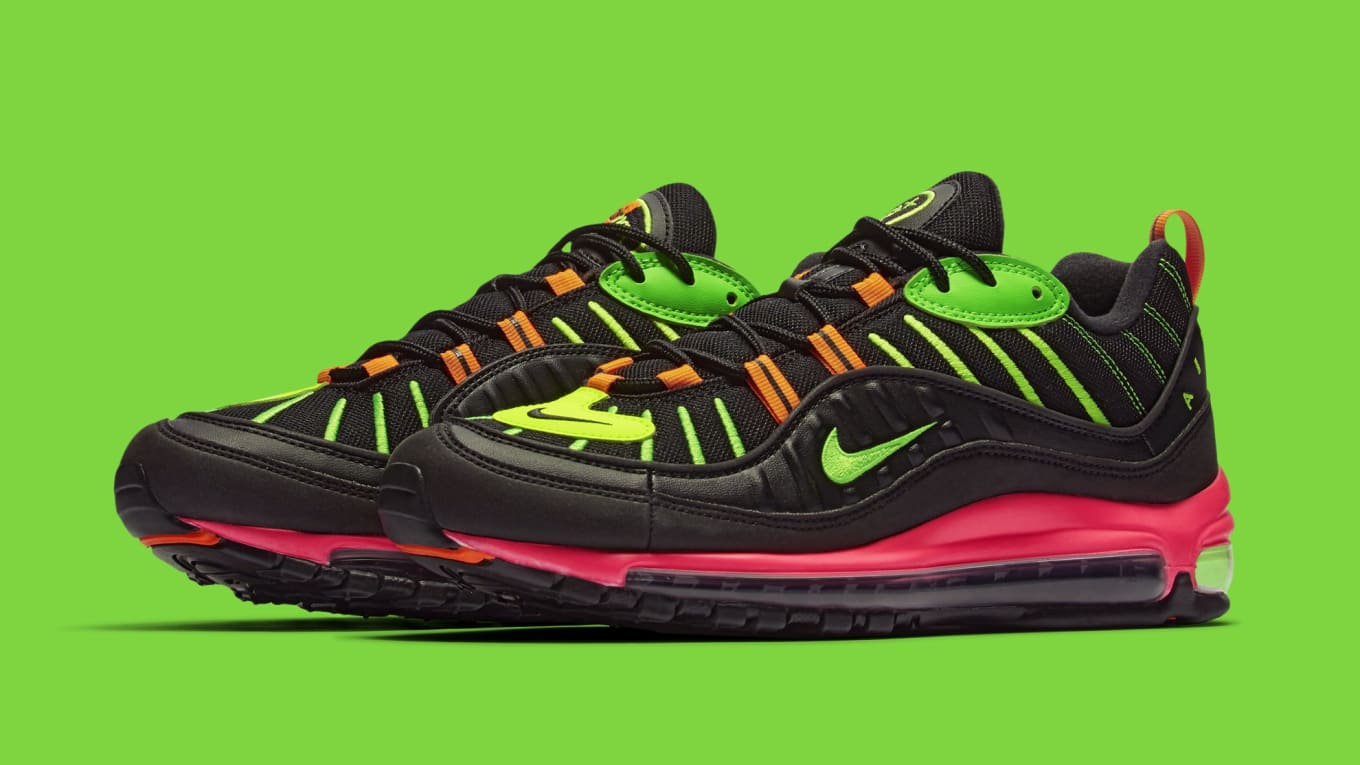 free shipping 181f2 b9b5a Fluorescent pairs of the Air Max 98 and Air Max 90.