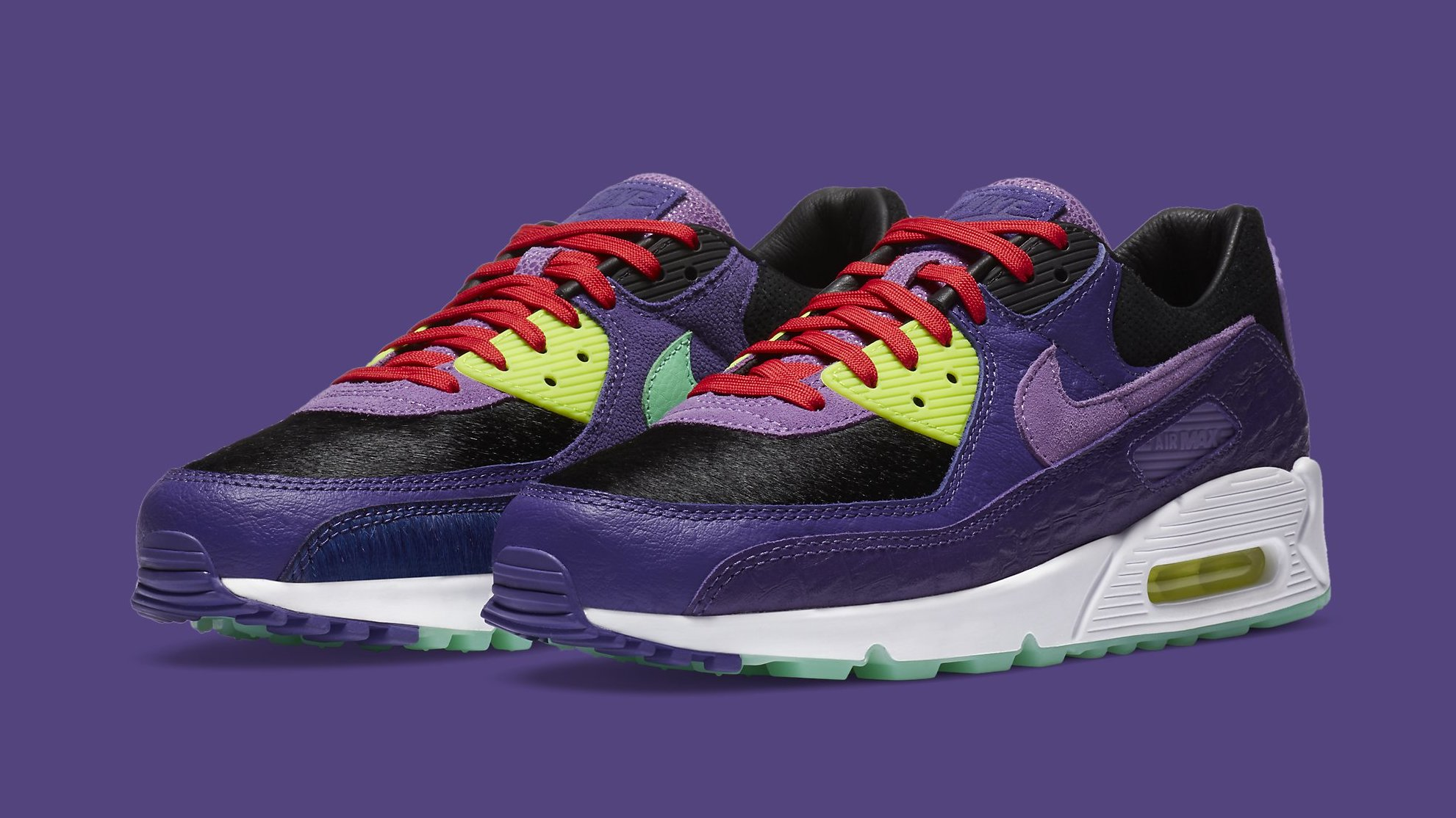 Nike Air Max 90 'Violet Blend' Release Date CZ5588-001 | Sole ...