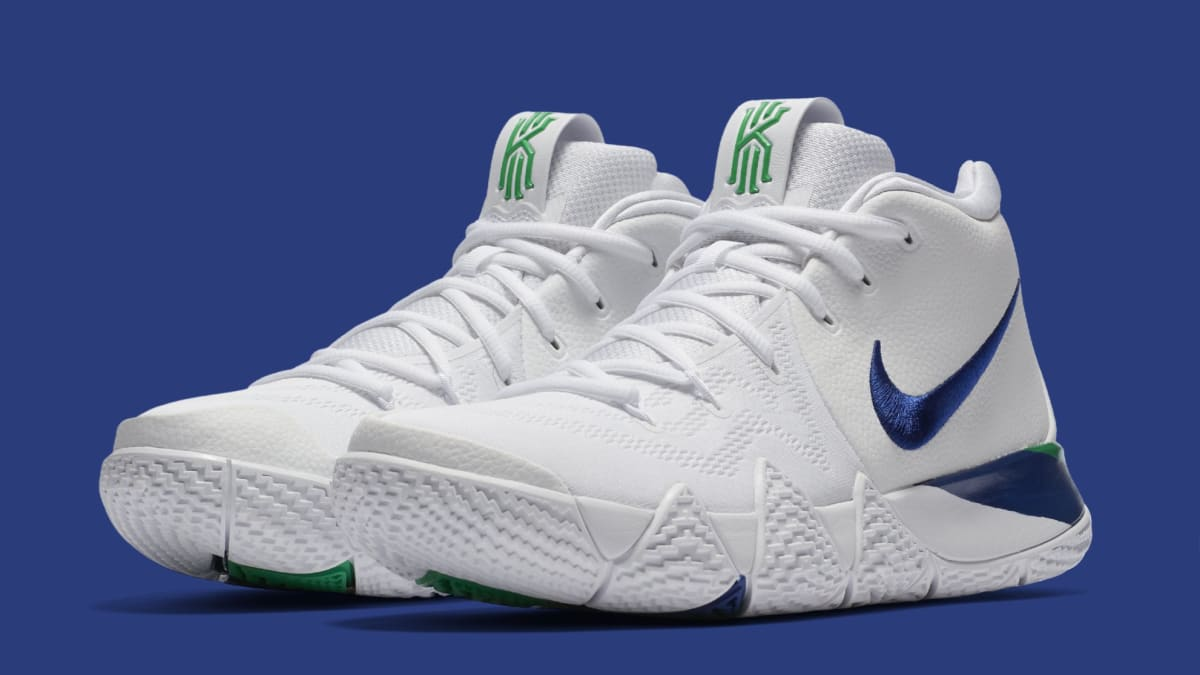 Nike Kyrie 4 White Deep Royal Blue Release Date 943806-103 ...