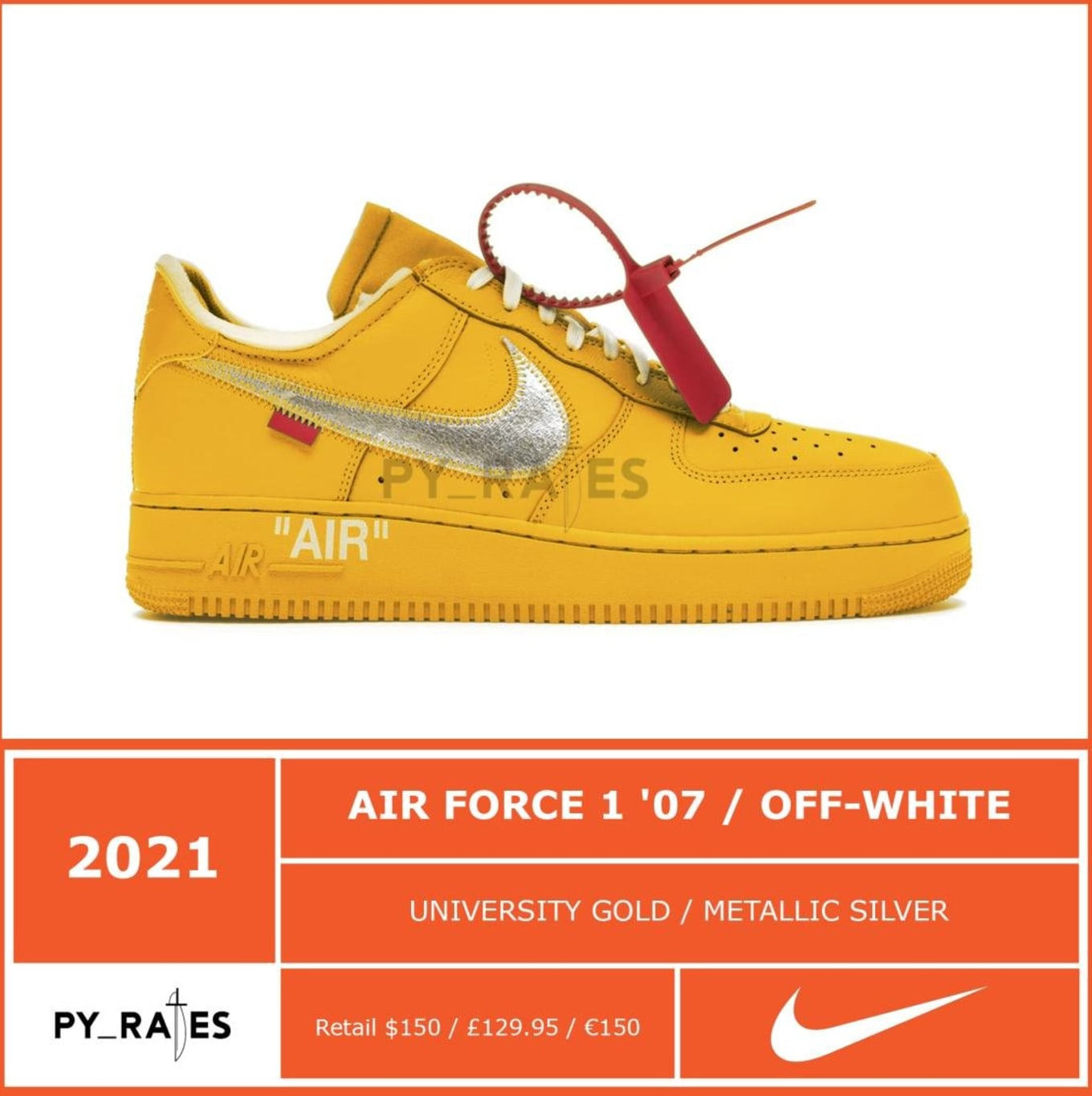 air force 1 off white release date