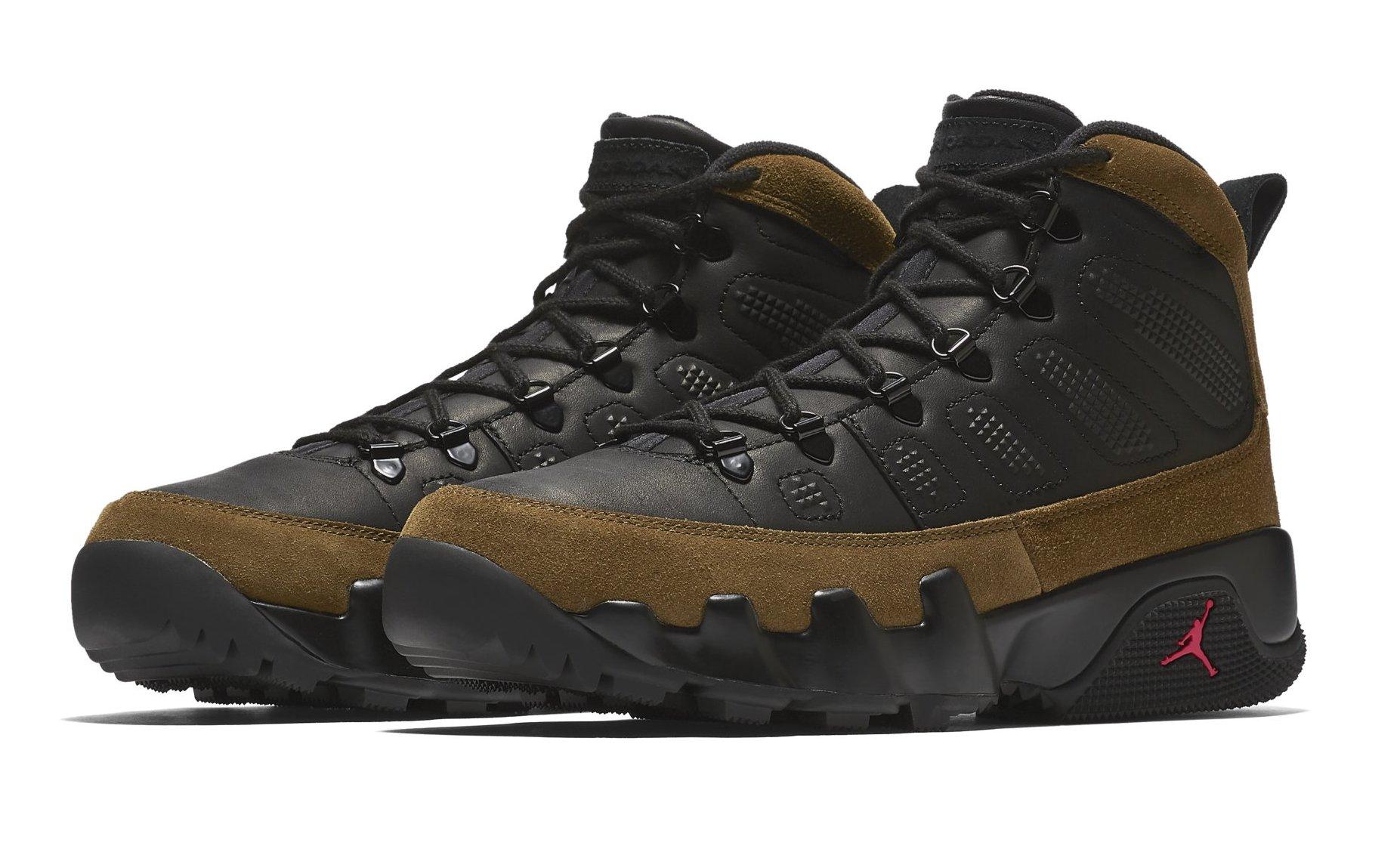 9c77339985d1dc Air Jordan 9 Boot NRG Black True Red Light Olive AO4491-012
