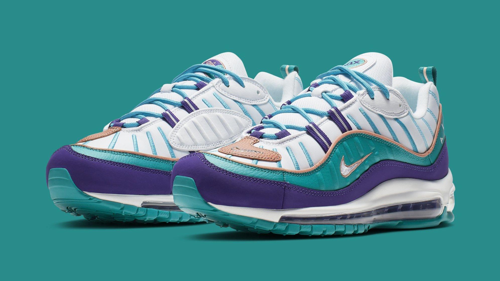 Nike Air Max 98 Court Purple Terra Blush Spirit Teal 640744 500