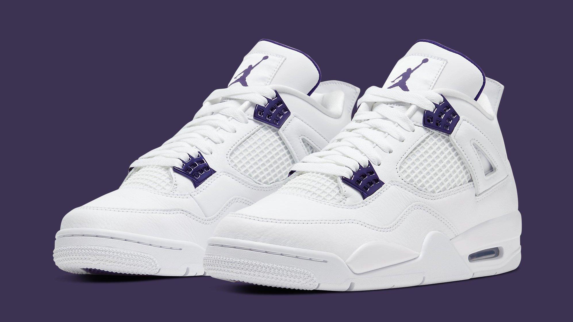 Air Jordan 4 Retro 'Metallic Purple' Release Date CT8527-115 ...