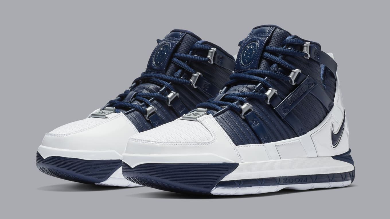 19eb7c8d6b7 Official Release Details for the  Midnight Navy  LeBron 3 Retro