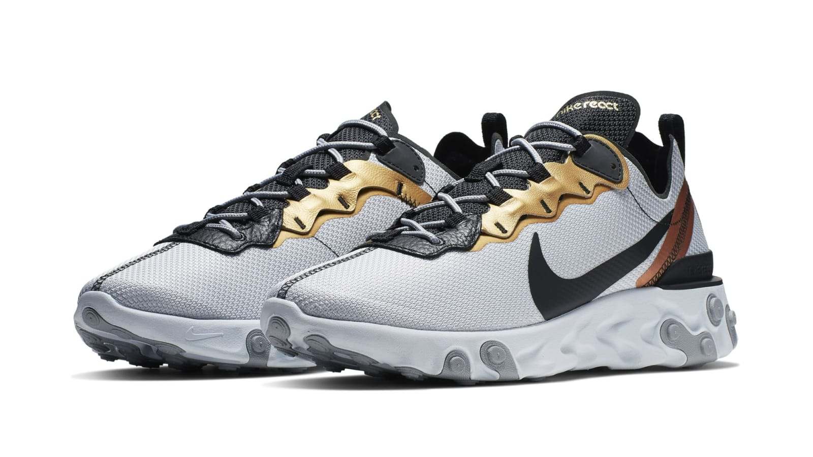 1547038729ae Metallic Gold Comes To The Nike React Element 55