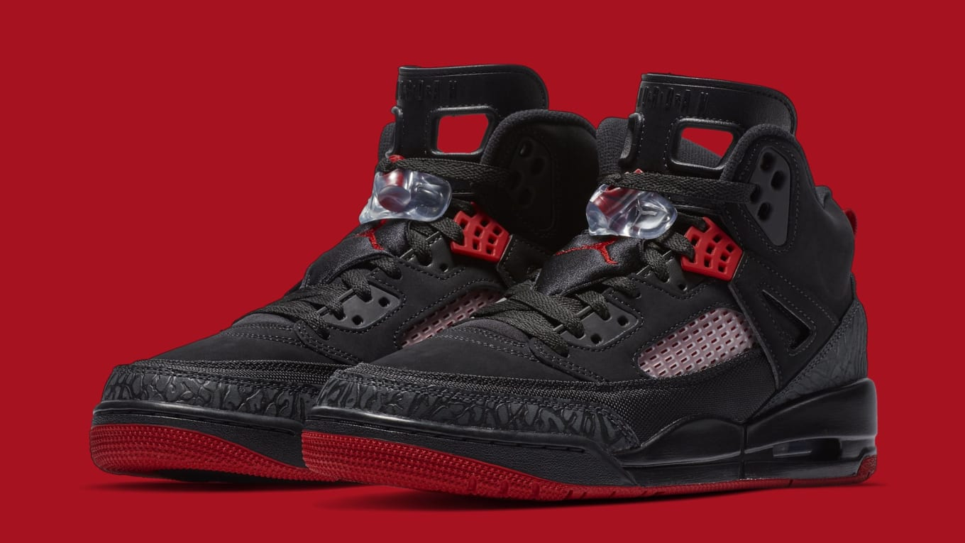 low priced 08b7e 577f7 Jordan Spizike  Black Anthracite-Gym Red  315371-006 Release Date ...