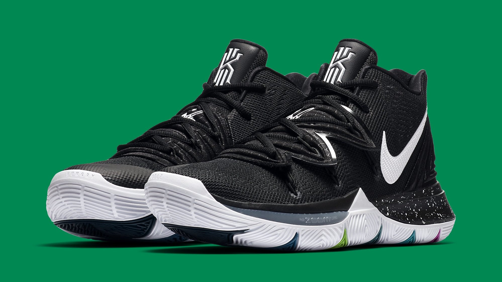 199c624d657f Nike Kyrie 5 Black Magic Release Date AO2918-901 Pair