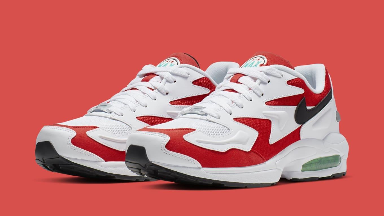 Nike Air Max2 Light 'WhiteBlack Habanero Red Cool Grey