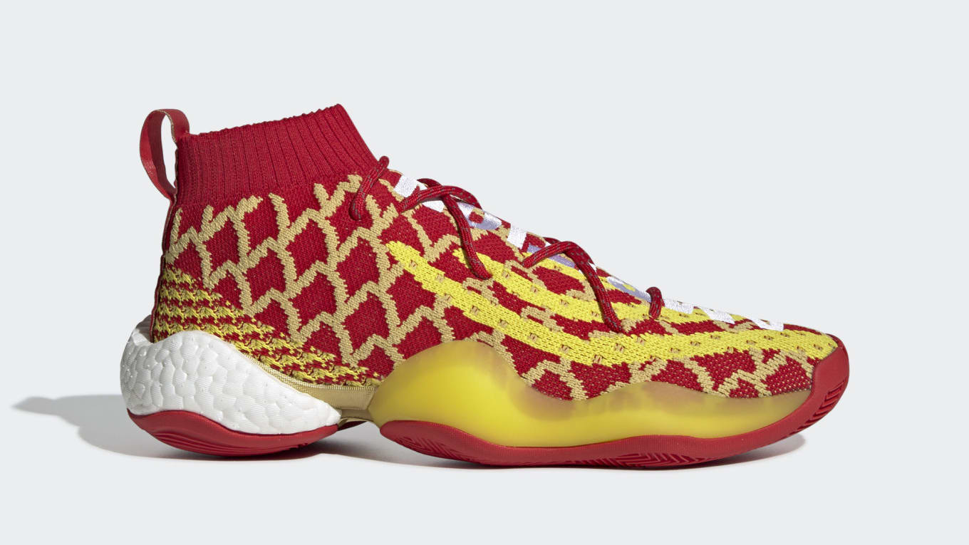 532056b853f Image via Adidas. Pharrell s next sneaker with Adidas will be a a Crazy BYW  to celebrate Chinese New Year.