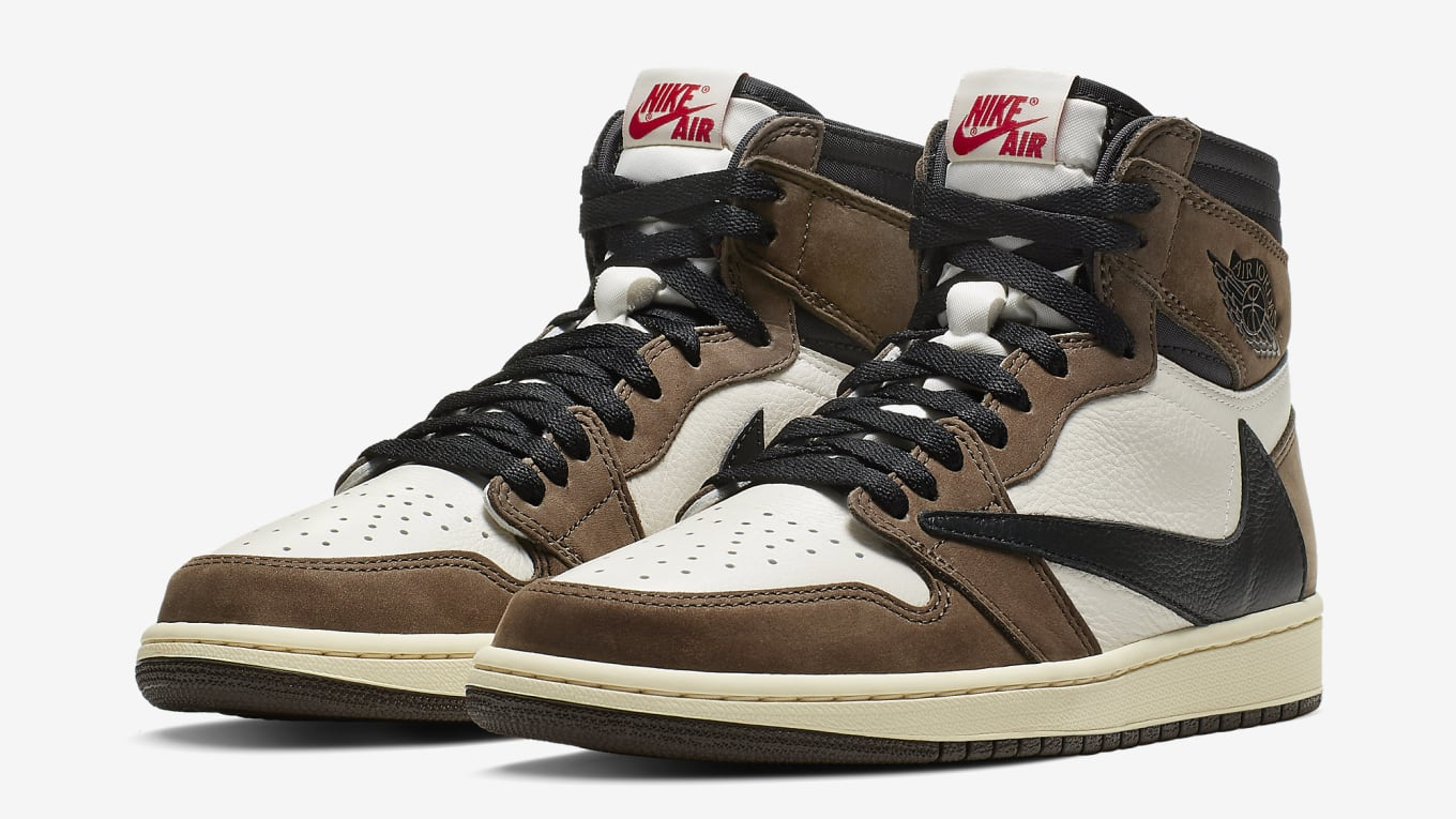 new concept 849c7 24410 Travis Scott s Air Jordan 1 Is Releasing With a Capsule of Apparel