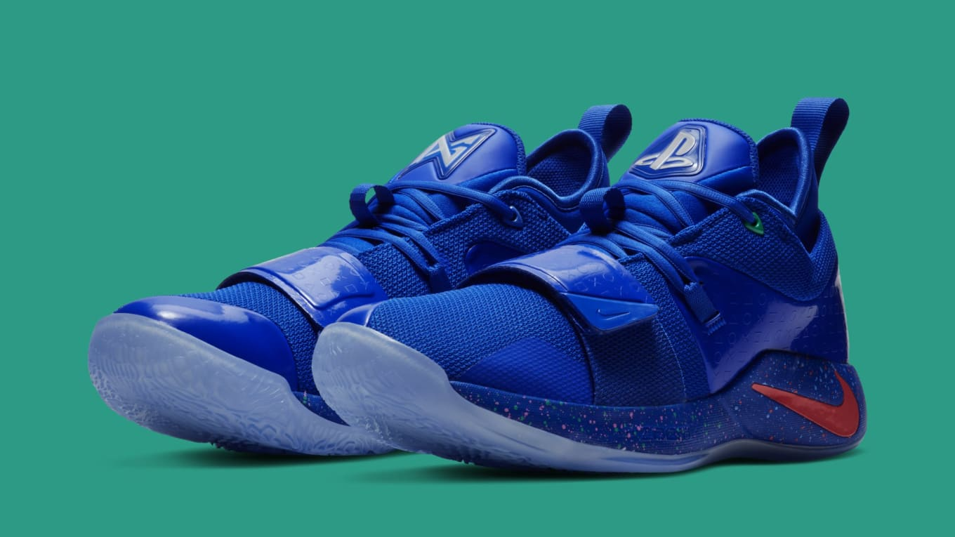 detailed look 032cd a6d23 Playstation x Nike PG 2.5 'Blue/Multi-Color' Release Date ...