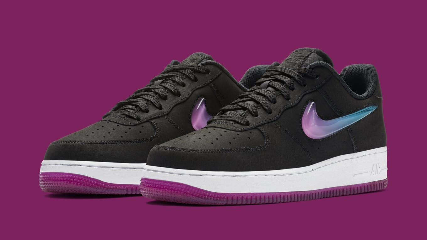 95da01fcd03 Nike Air Force 1 Low Jewel  Black Active Fuchsia-Blue Lagoon-White ...