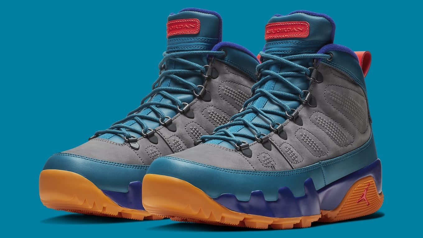 c28435f9221a54 This Air Jordan 9 Boot Gets a Wild  Multicolor  Makeover. Set to release  this Saturday.