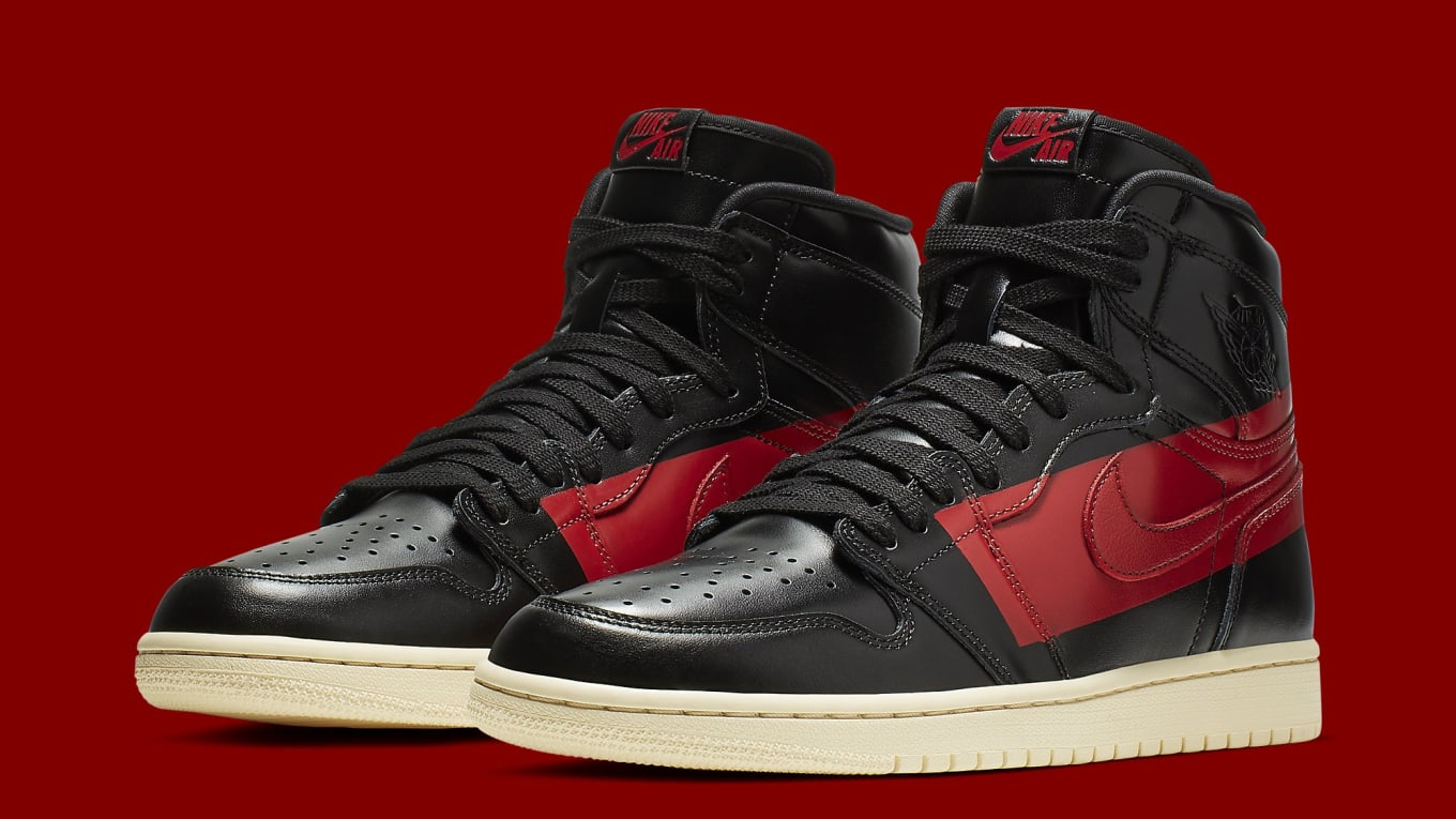 detailed look 48146 943df Air Jordan 1 High OG Defiant 'Black/Gym Red/Muslin' Release Date ...