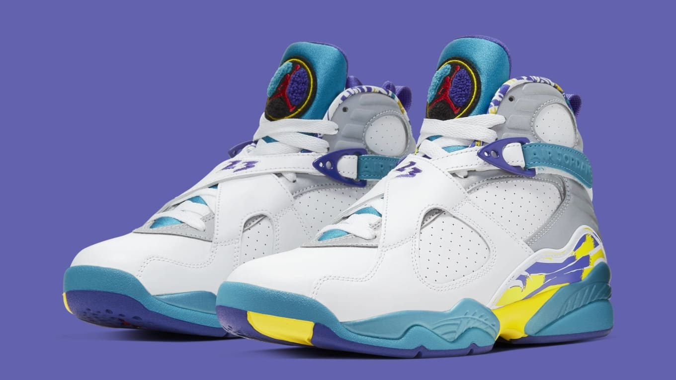 buy online 55b84 cce66 Air Jordan 8 Retro Women's 'Aqua' Release Date July 2019 ...