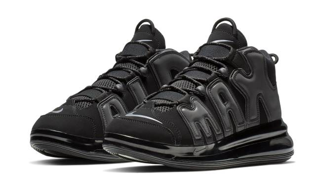 NIKE AIR MORE UPTEMPO SE GS Nike air more up tempo Lady's sneakers 922,845 001 shoes black