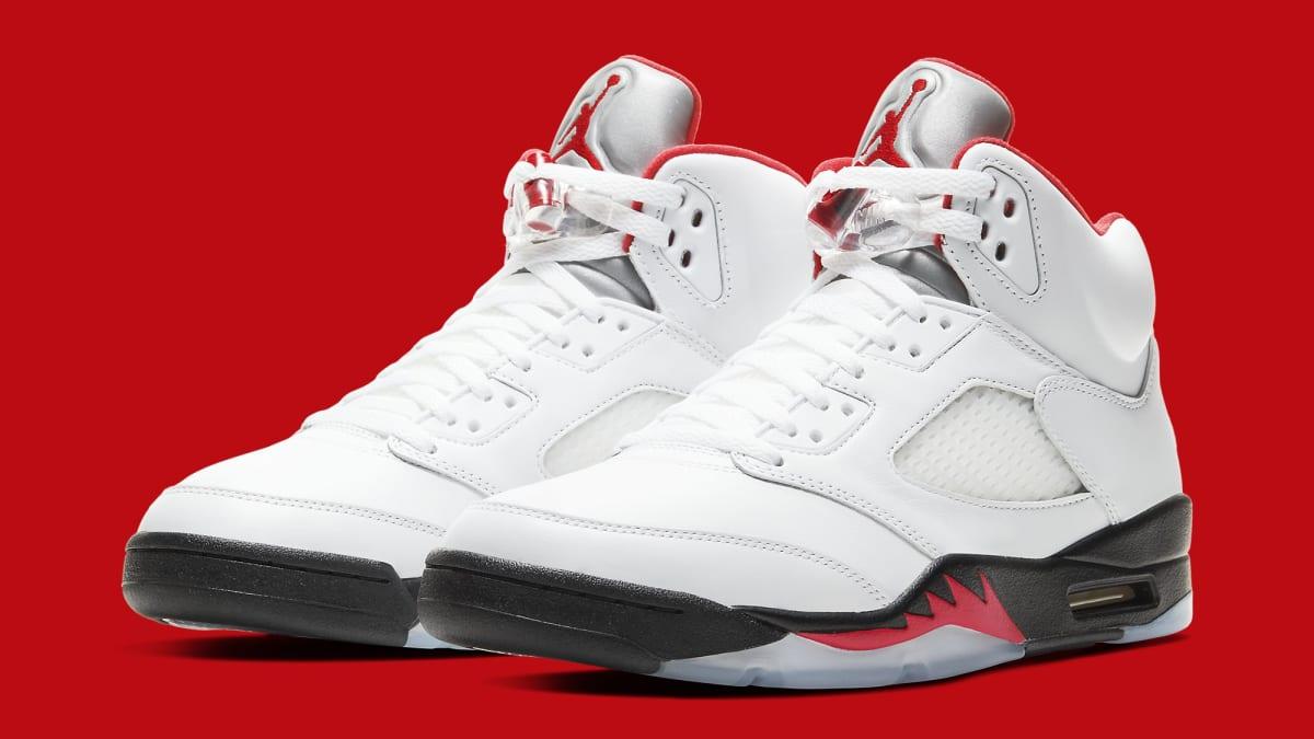 The 'Fire Red' Air Jordan 5 Has An Official Release Date