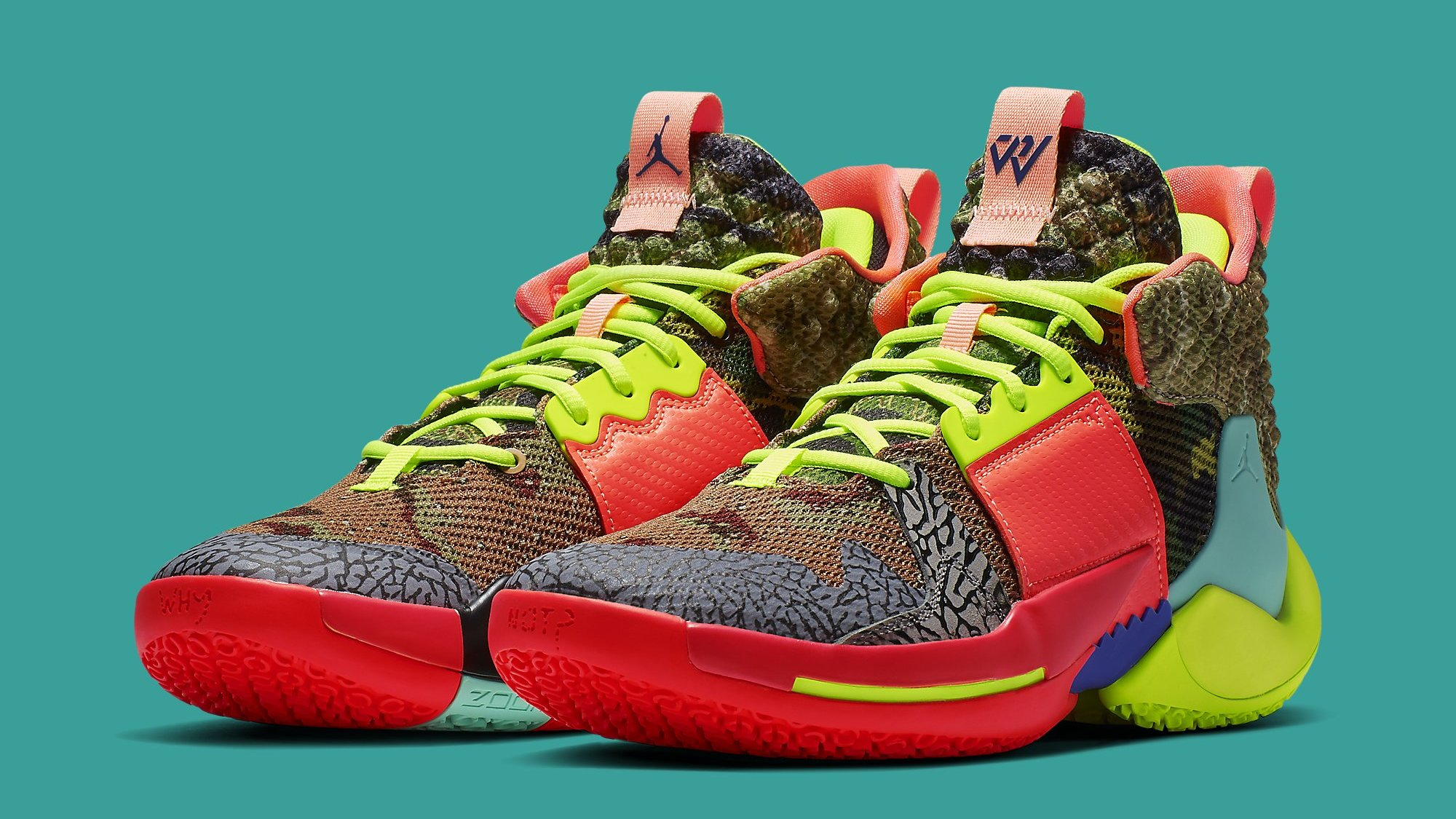 598191c89 Jordan Why Not Zer0.2  All-Star  Camo Green Hyper Turquoise-Volt-Infrared  CI6875-300 Release Date