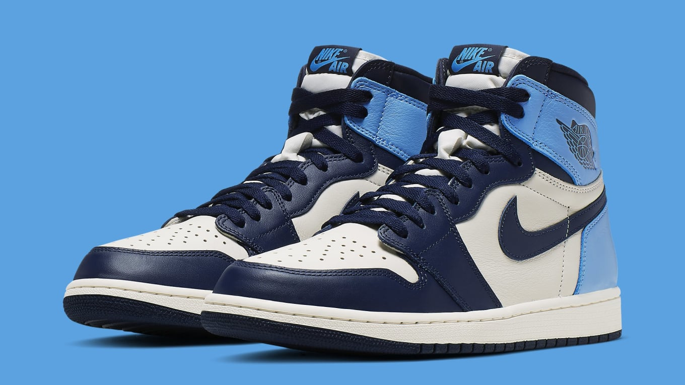 Air Jordan 1 'Sail/Obsidian-University Blue' 555088-140 ...