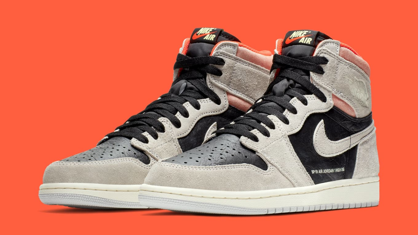 9d567bf1b6b Air Jordan 1 'Neutral Grey/Hyper Crimson-White-Black' 555088-018 ...