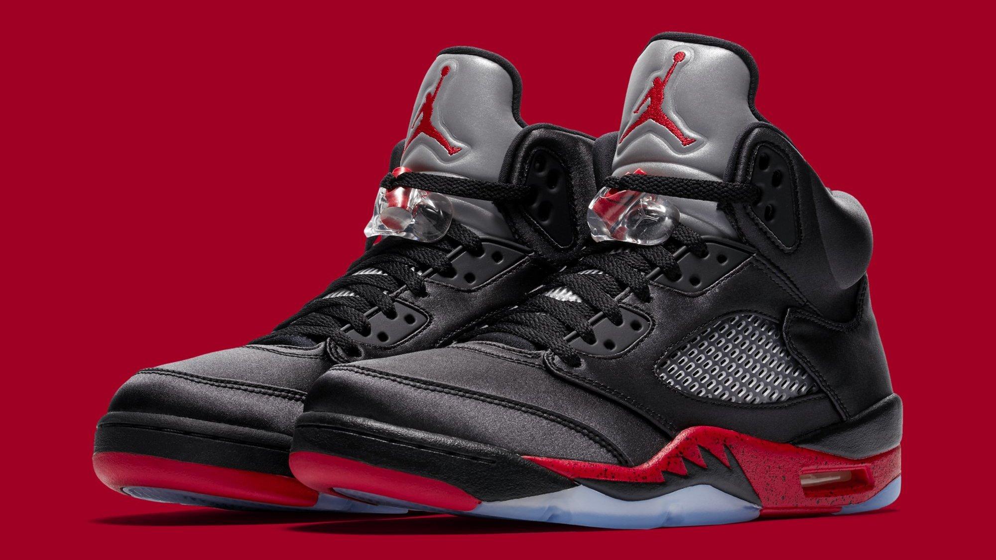 6225dc1342096 Air Jordan 5  Black University Red  Release Date