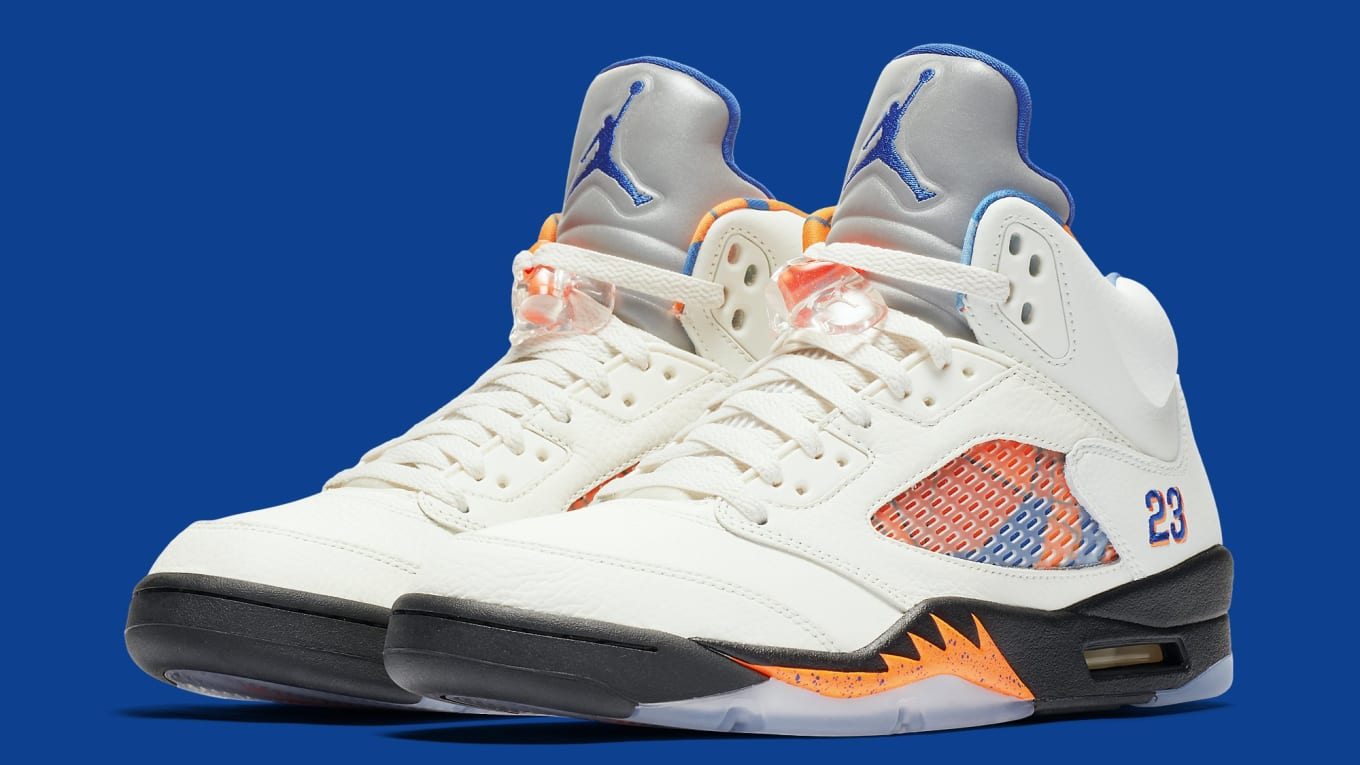 0ec85a8bf1910 Air Jordan 5 V Sail Orange Peel Black Hyper Royal Release Date ...