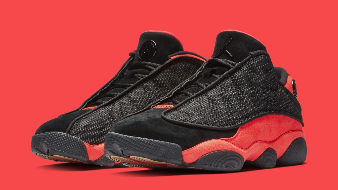 2f19701b053245 Clot Air Jordan 13 Low Black Infrared Release Date AT3102-006