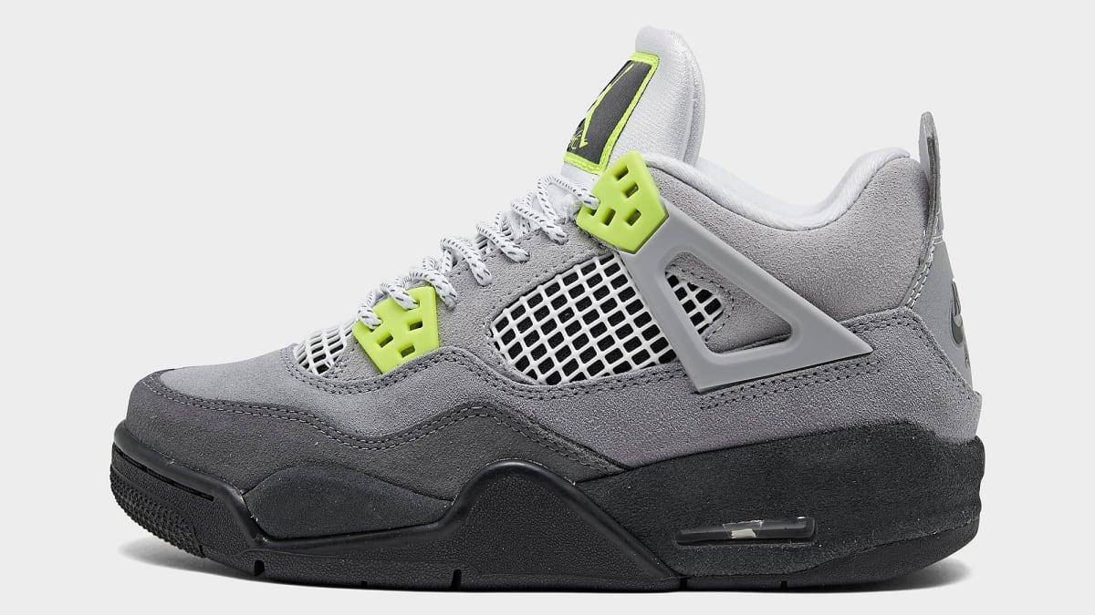 Detailed Look at the 'Neon' Air Jordan 4 Retro