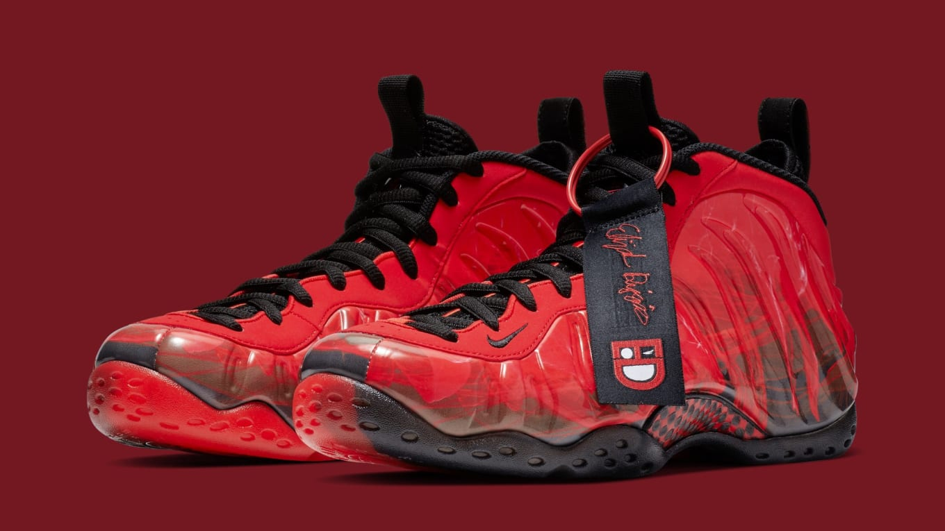 ba2d04a2002 Nike Air Foamposite One  Doernbecher  Challenge Red Black 641745-600 ...
