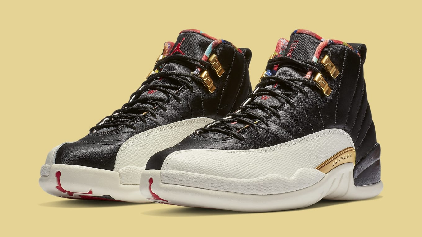 68c29b9a9124 The  Chinese New Year  Air Jordan 12 Has Tearaway Uppers. Celebrating the  Year of the Pig.