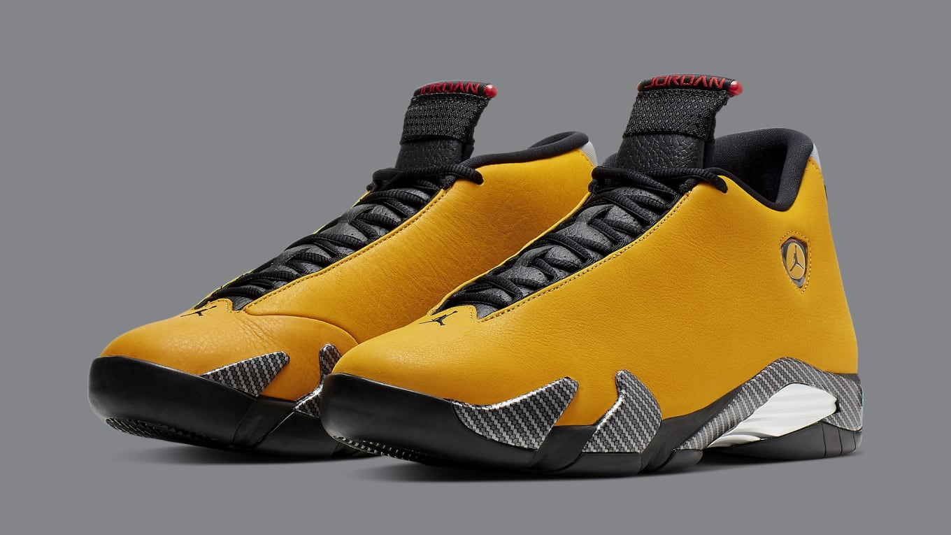 Air Jordan 14 Retro Yellow Ferrari Release Date 06 22 19 Bq3685 706 Sole Collector
