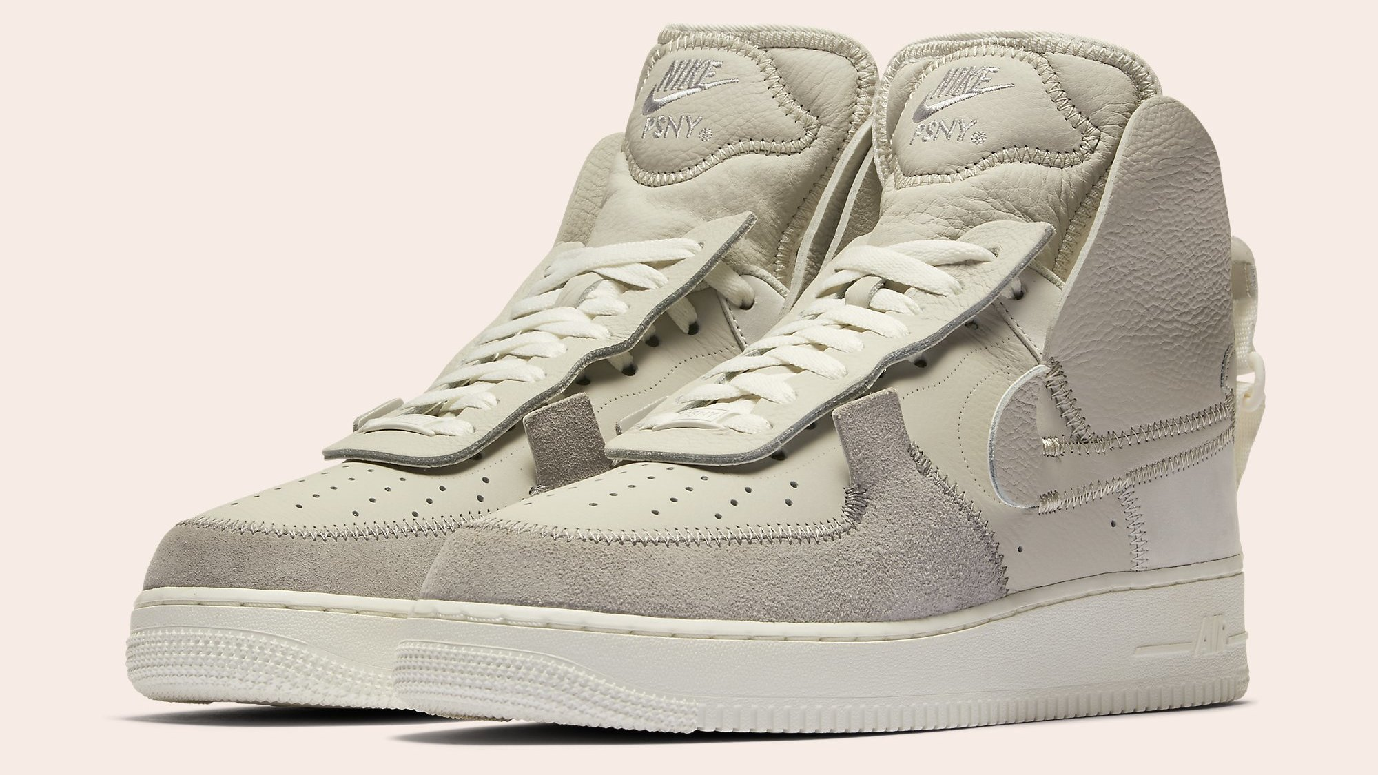 ded5a7a1af90a8 PSNY x Nike Air Force 1 High Black White Wolf Grey Release Date ...