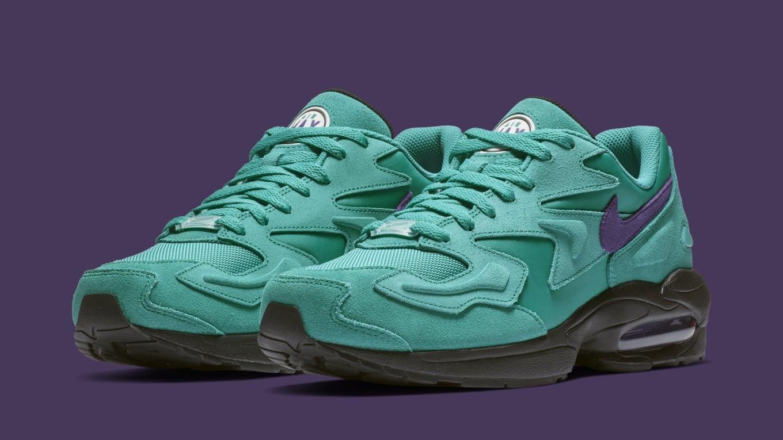 timeless design 5f6c2 4c1da Nike Air Max2 Light  Aqua  AO1741-300  Purple  AO1741-500 Release ...