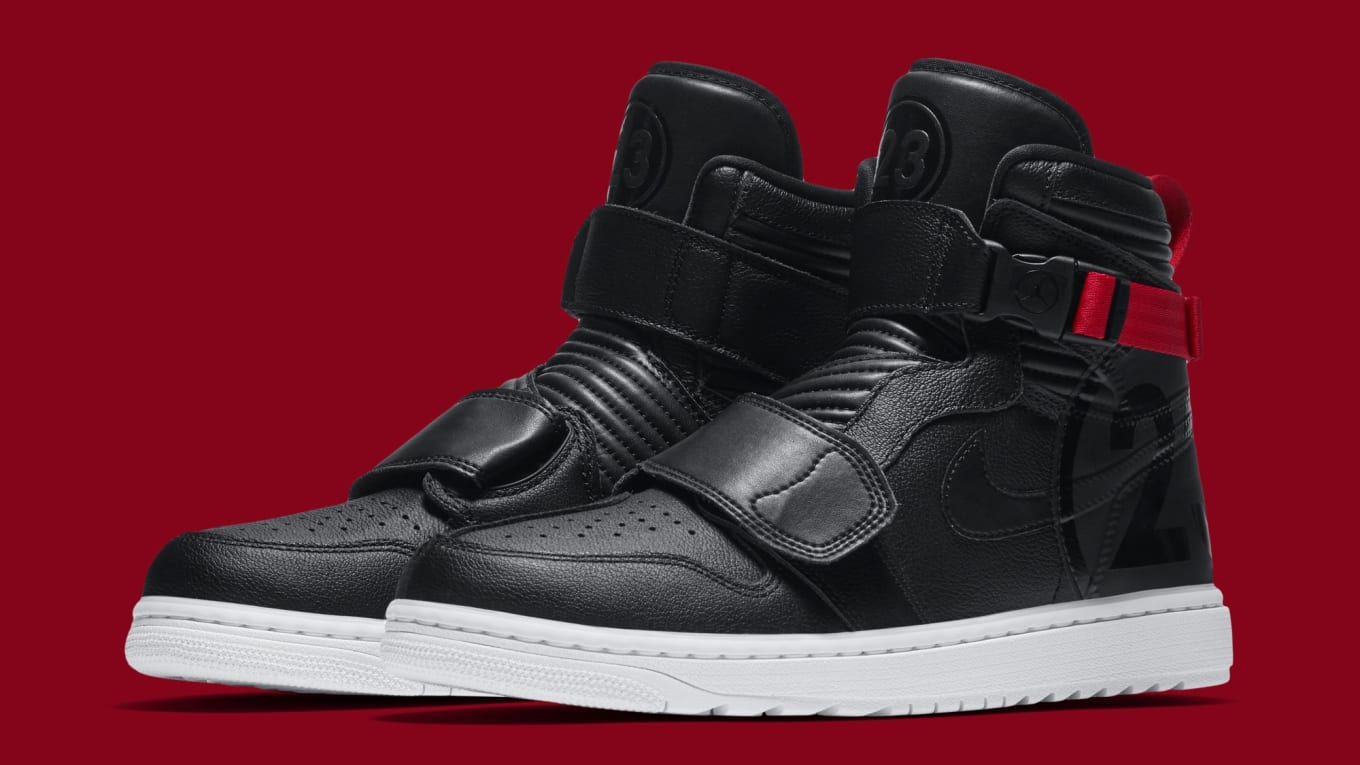 62d90156dce064 Another  Motorsports  Air Jordan 1 Has Surfaced. A traditional black and  red colorway for the retooled model.