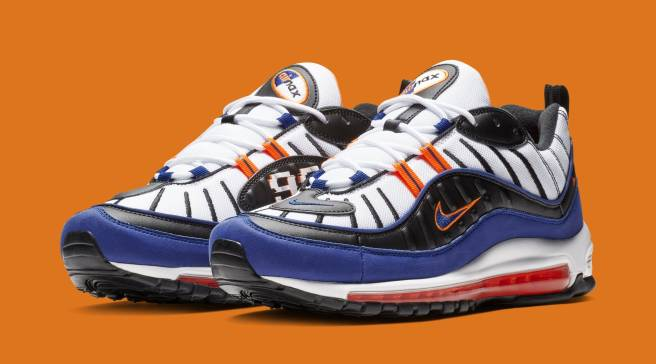 hot sale online 157fd 18020 New York Knicks Colors on New Air Max 98s