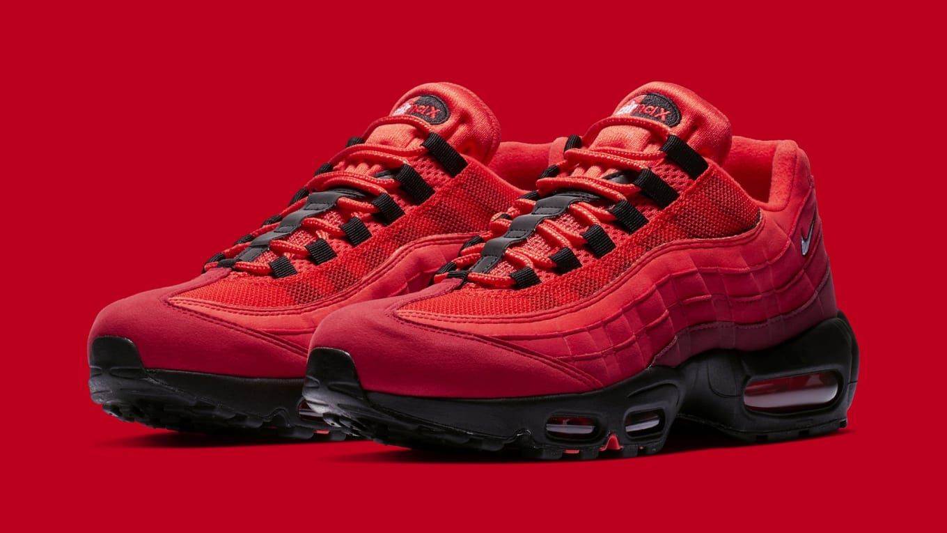 7f3100fcb142 Nike Air Max 95  Habanero Red Black-White  AT2865-600 Release Date ...