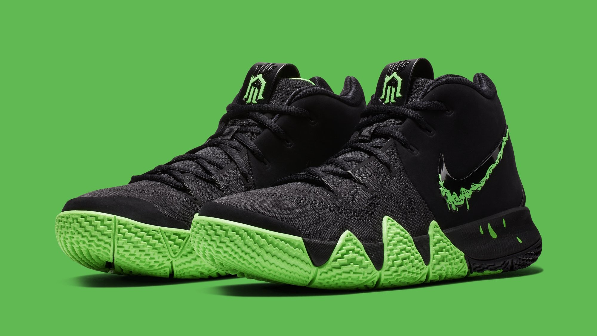 6aa22f2a2572 Nike Kyrie 4 Black Rage Green Halloween Release Date 943806-012 ...