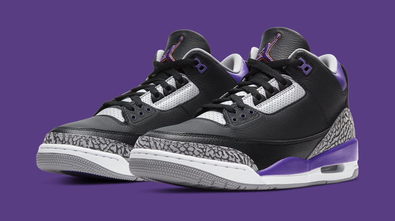 Air Jordan 3 Retro 'Court Purple' Release Date CT8532-050   Sole ...