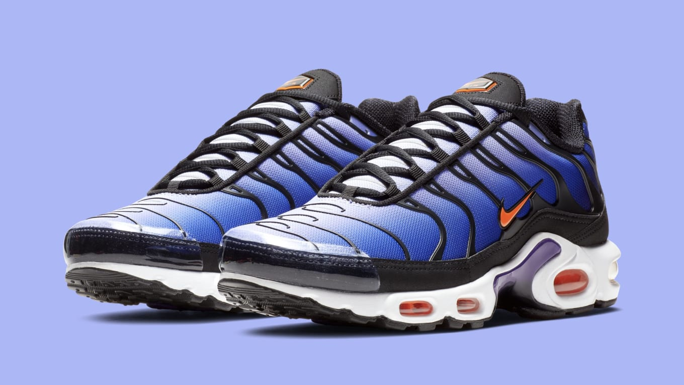 1c285a78bb34d5 Nike Air Max Plus  Black Total Orange-Voltage Purple  BQ4629-002 ...