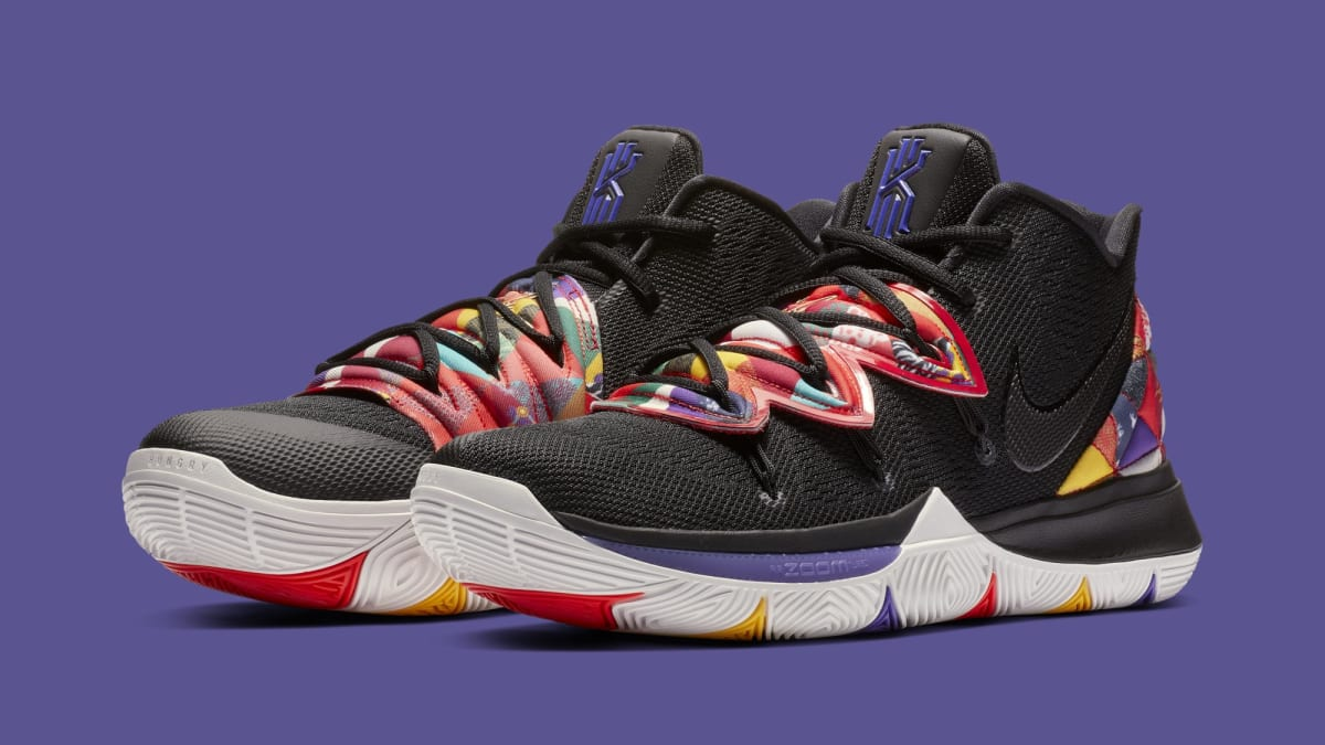 official photos aa383 40911 nike kyrie 5  black multi-color  release date