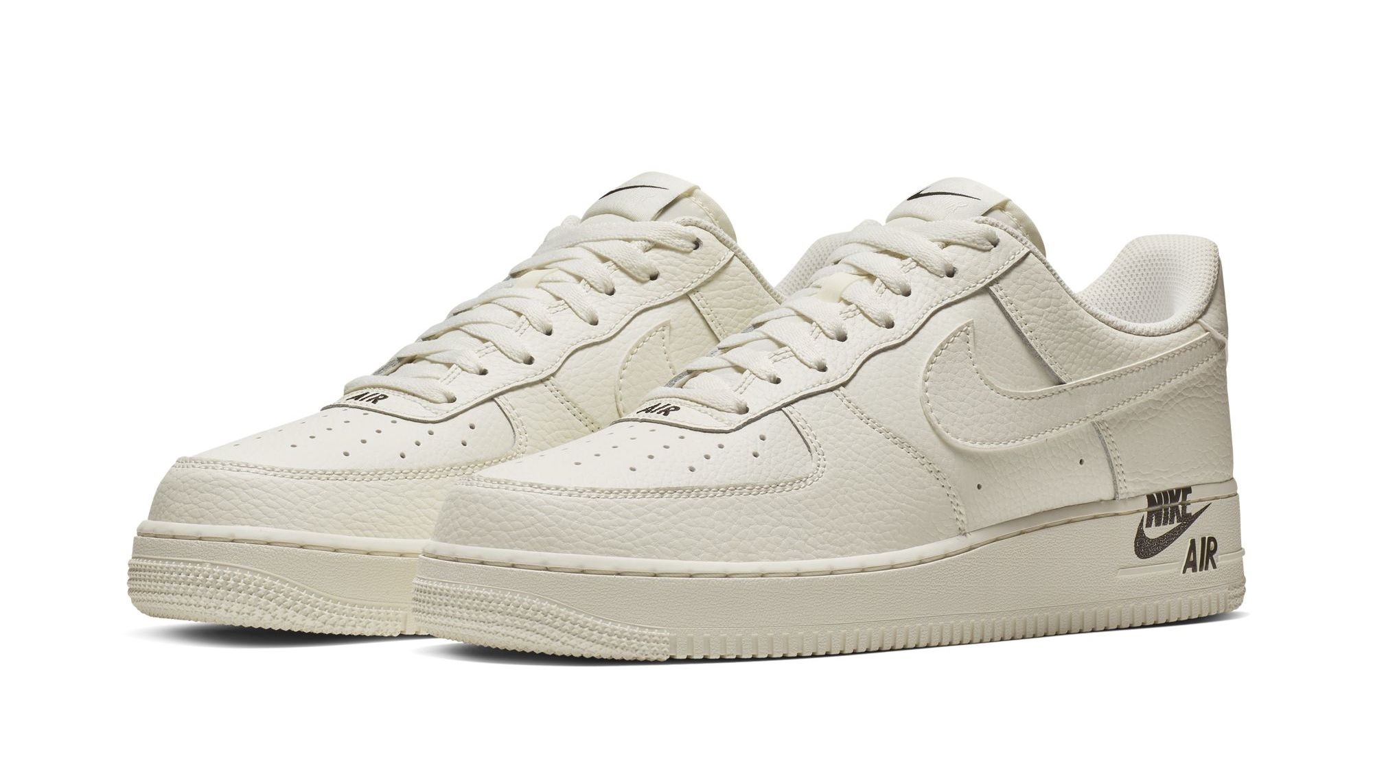 a1722fb90 Nike Air Force 1 Low '07 LTHR 'Sail' 'Team Red' Images | Sole Collector
