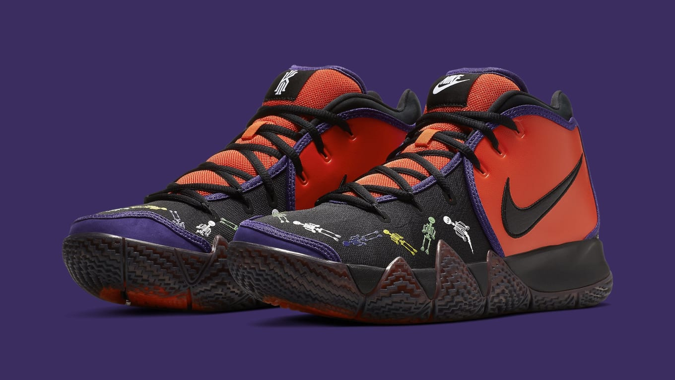 buy popular a2347 e3327 Nike Kyrie 4  Day of the Dead  CI0278-800 Release Date   Sole Collector