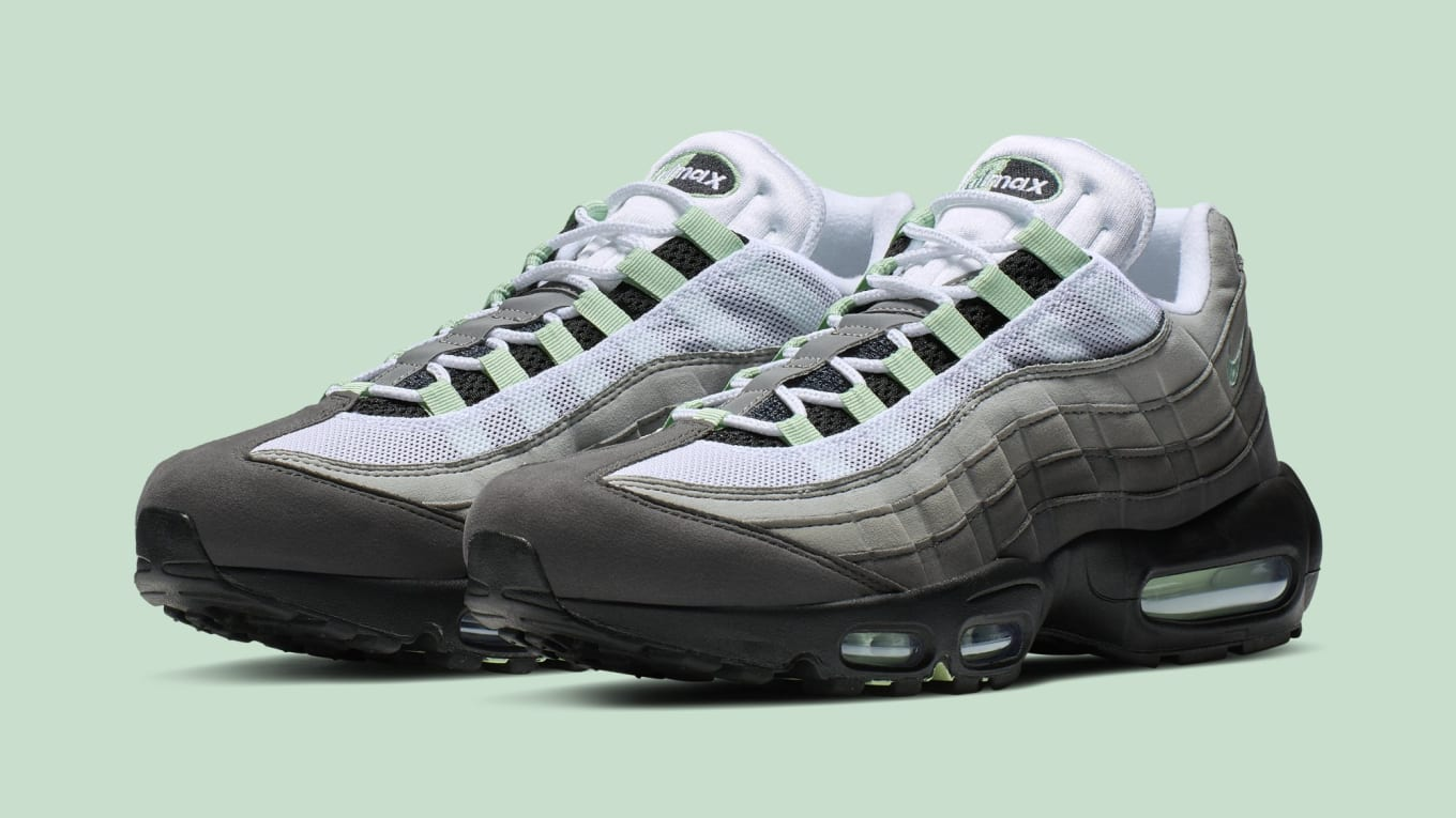 56ff3f583369 Nike Air Max 95  White Fresh Mint-Granite Dust  CD7495-101 Release ...