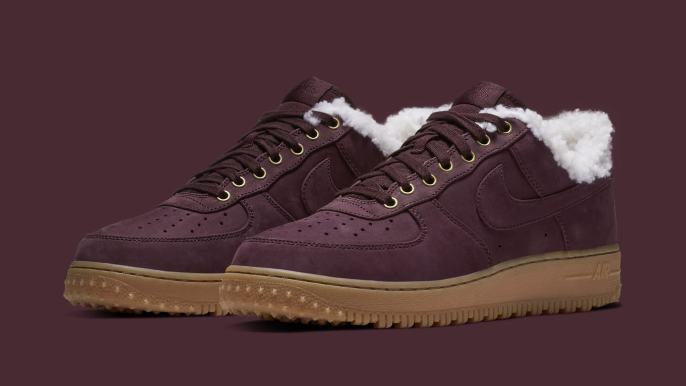e1d1babbfc4a Nike Air Force 1 Premium Winter  Burgundy Crush Gum Light Brown ...