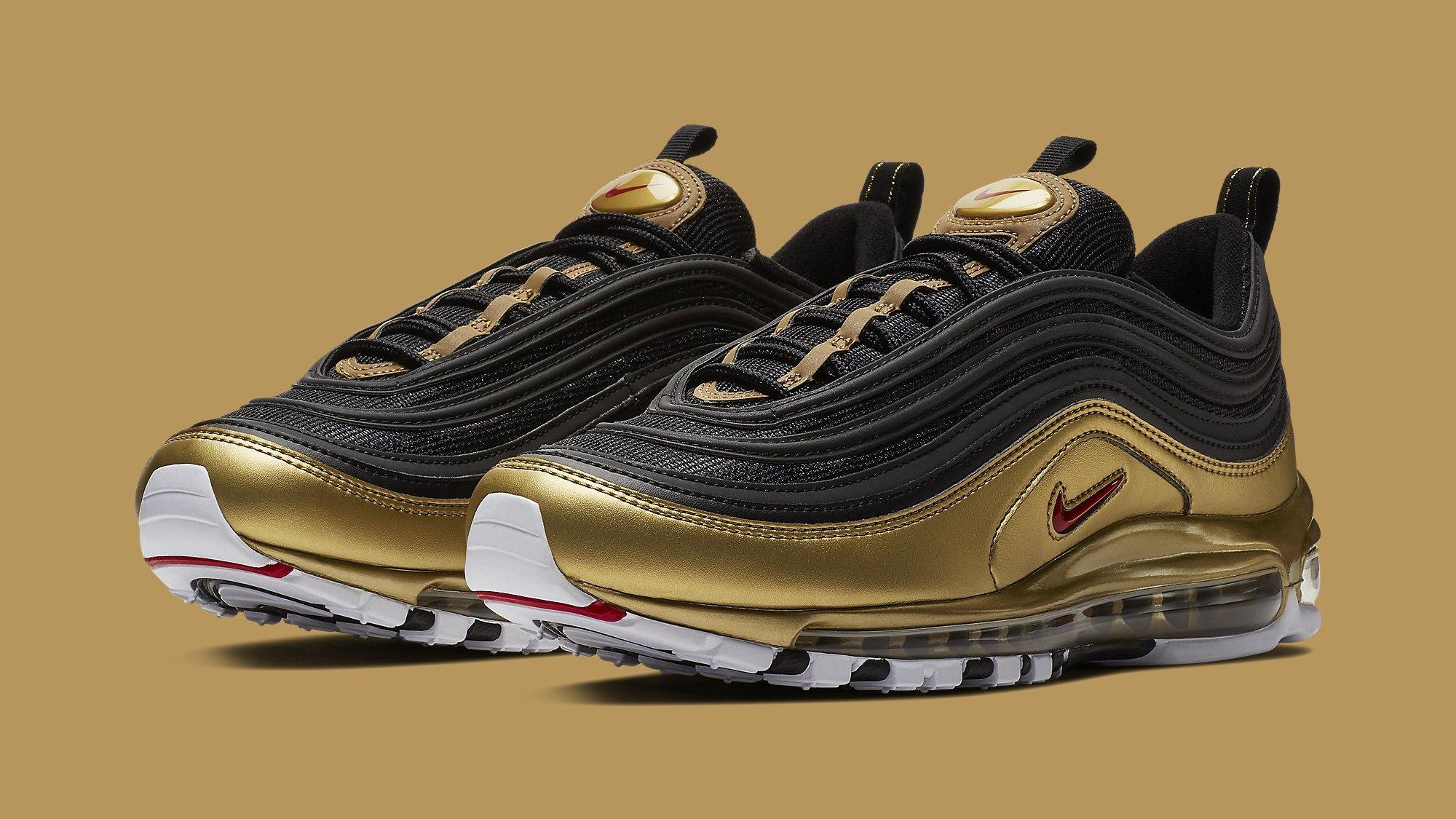 Nike Air Max 97 'Black/Metallic Gold' AT5458-002 'Black/Metallic ...