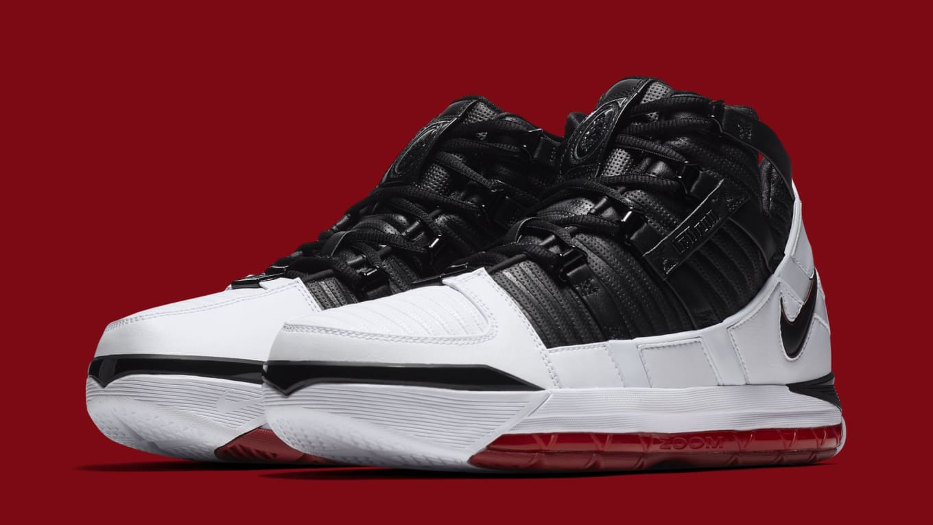 e89994381e96 The Nike Zoom LeBron 3  Home  Is Dropping Soon. Another retro from King  James  Cleveland days.