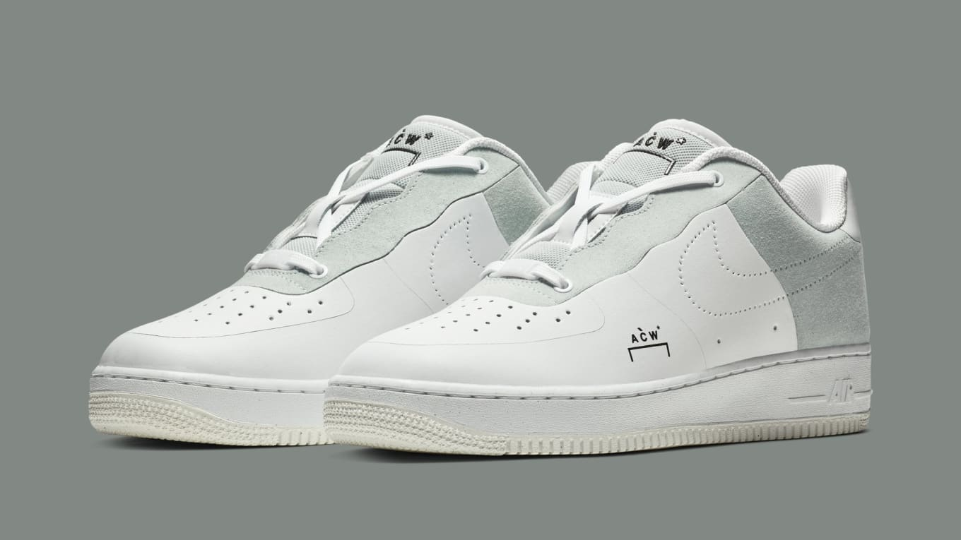 A-Cold-Wall  x Nike Air Force 1 Low  White Light Grey-Black  BQ6924 ... e0a717b64a