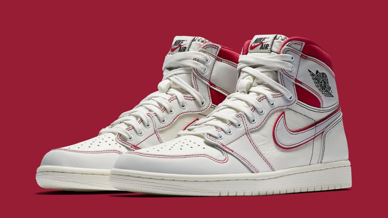 2423e6f0c0d Air Jordan 1  Sail Black-Phantom-University Red  555088-160 Release ...