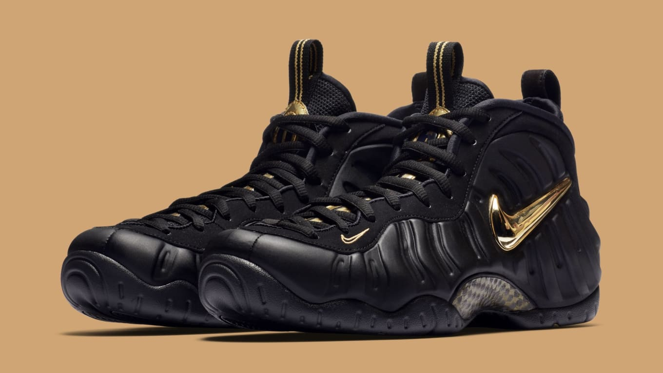 new products 0685a fd4a2 Closer Look at the  Black Metallic Gold  Nike Air Foamposite Pro